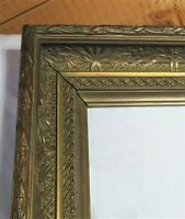"BIG FITS 24"" X 36""  GOLD GILT ORNATE WOOD PICTURE FRAME FINE ART VICTORIAN"