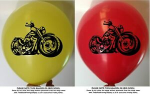 10 Motorbike Balloons Assorted Colour Latex Party Balloon Birthday Speedway