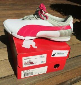 NIB Womens PUMA SunnyLite V2 WATERPROOF Golf Shoes White/Gray/Pink 8.5 US 39 Eur