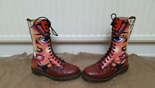 rare Dr MARTENS size 9 ENGLAND cherry 1919 comic face punk 14 limited EDITION