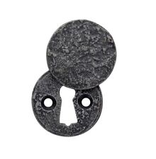 Round Close Escutcheon Pewter Standard Escutcheon with Cover Key Hole