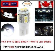 10X T10 LED White Xenon 10 SMD/5050/194Bulbs Light 168 W5W license Plate Wedge
