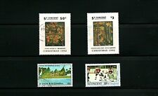 St Vincent -- 4 diff used commemoratives -- cv $9.20