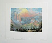 "Thomas Kinkade Medallion Edition Hand Signed Print, ""Artist's Point-Yosemite"""