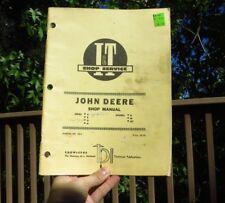 Implement & Tractor Publications Shop Service John Deere Shop Manual 1956