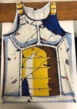 Dragon Ball Z Vegeta Battle Worn Costume Tank Top Cosplay XXL