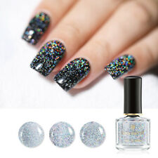 6ml BORN PRETTY  Nail Polish Glitter Holographic Top Coat Varnish Clear Sequined
