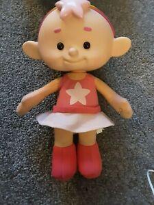 "Cbeebies Cloud Babies Baba Pink Talking Doll RARE 10.5"" Rainbow Hair Vivid 2012"