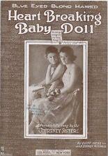 Blue Eyed Blond Haired Heart Breaking Baby Doll ,  WW I folio sheet music, 1919