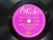 GENE AUTRY  JIMMY LONG  RED RIVER VALLEY OKEH 78  1936