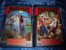 2  Bände Karl May , Eine deutsche Sultana , Die Königin der Wüste , Weltbild