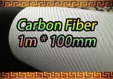 Fibre De Carbone Feuille Vinyle Blanc Autocollant 1m X 100 mm