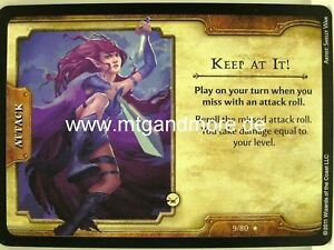 D&D Fortune Cards - 1x Keep At It!  #009