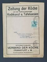 1912 Frankfurt Stuttgart Germany Cooks Newspaper Commercial Advertising Cover