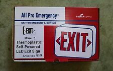 Exit Sign Emergency LED Light Lighting All Pro AP60R AC Universal Face White/Red