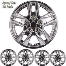 4 Pcs 13 inch Car Chrome Wheel Rim Skin Cover Hub Caps Hubcap Wheel Cover New
