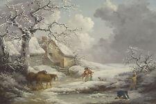 Framed George Morland Print - Winter Landscape (Picture Poster Painting Art)