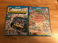 Nintendo Land Nintendo Wii U game w manual Animal Crossing Amiibo Festival NEW