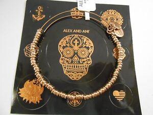 Alex and Ani Rocker Beaded Bangle Bracelet Shiny Rose NWTBC