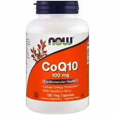Now Foods CoQ10 - 180 - 100mg Vcaps - Coenzyme Q10 Heart & Immune System Support