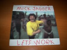 """MICK JAGGER  """"LETS WORK""""     PICTURE SLEEVE   7 INCH 45  1987"""