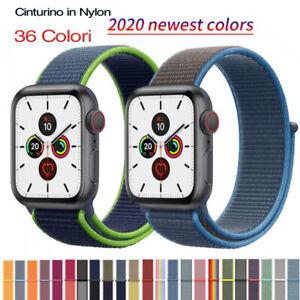 Cinturino Nylon Tessuto Compatibile Apple Watch Serie 5/4/3/2/1 38/40mm 42/44mm