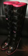 Hello Kitty Girl's Tall Rain Boots by Sanrio Small Size 5.5