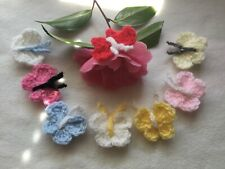 Handmade Small Crochet Butterflies applique/embellishments Mix X 8