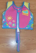 "Genuine Speedo Small 24"" (inch) Chest Pink Girls Age 4-6 Yrs Padded Life Vest"