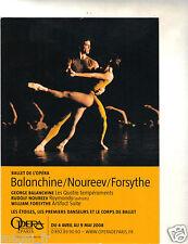Publicidad TARJETA POSTAL- ópera Nacional de Paris Balanchine/Nureyev/Forsythe
