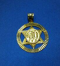 Allah Pendant in 14k Yellow Gold.