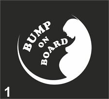 BUMP ON BOARD STICKER / Baby Child Window Car Sign Decal Sticker