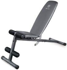 Golds Gym Weight Bench Flat Incline Decline Strength Training Fitness Leg Ab Hip