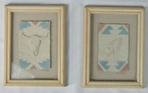 "Set Of 2 FIGI GRAPHICS Wall Decor Arrowhead & Skull 6"" X 8"" 3-D Wall Art"