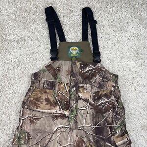 Cabelas Dry Plus Men's Hunting Revolution Fleece All Purpose Camo Bib Overalls