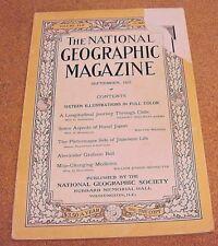 National Geographic September 1922 Chile Japan Alexander Graham Bell Medicine