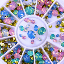 Opal 3D Nail Rhinestones Colorful Multi-size Glitters Manicure Wheel Decoration