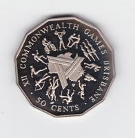 1982 Australia 50 Cent Proof Coin Commonwealth Games Brisbane ex Set ^