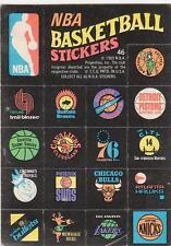 NBA BASKETBALL LOGO STICKERS 1969 Topps card # 46 EX