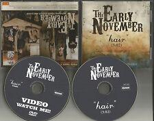 EARLY NOVEMBER Hair RADIO Version PROMO CD Single & DVD VIDEO 2006 USA MINT