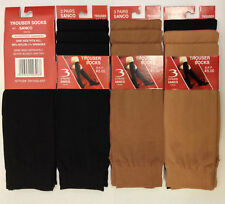 Womens Ladies Knee High Socks Tights Trouser Socks Nylon Black Skin One Size UK