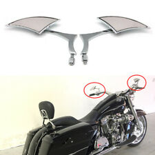 8mm Chrome Cnc Rearview Side Mirror For Harley Touring Street Glide Road Softail(Fits: Mastiff)