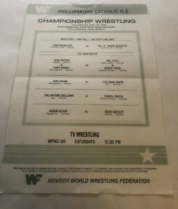 WWF championship wrestling Program lineup card 5/16/84 Bob backlund vs dr d..