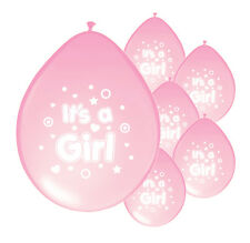 40 X IT'S A GIRL BABY SHOWER NEW BABY BALLOONS LIGHT PINK