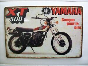 Yamaha XT 500 Parts Service Blechschild Klassik Retro Logo Emblem 30x20 cm