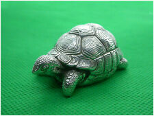 More details for tortoise sculpture sterling silver finely detailed beautiful quality london hm