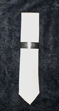 Jones New York Mens Classic White Designer Neck Tie NWT