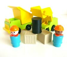 1980's Vintage Fisher Price Little People - Lift And Load Set #789