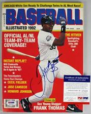 White Sox Frank Thomas Authentic Signed 92 Baseball Illustrated PSA/DNA #H17419