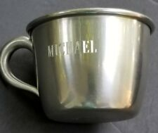 Childs mug pewter engraved Michael Baby Cup